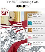 Amazon Home Furnishing Sale Upto 70% off Starting Price  Rs.199 Via Amazon: Buytoearn