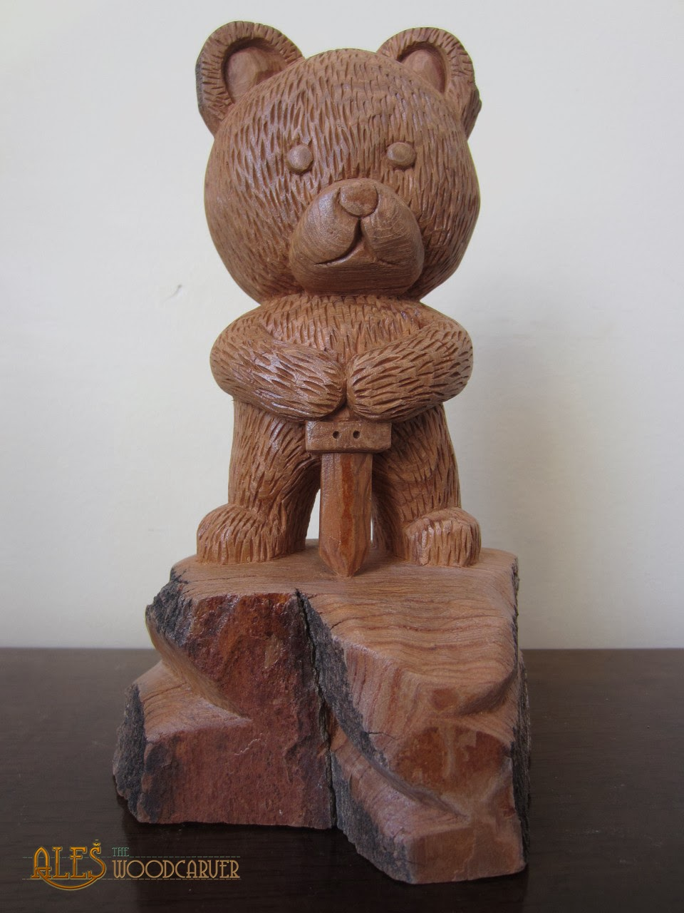 Ales the woodcarver teddy bear guardians