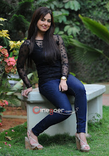 Sana Khan spotted in Stunning Spicy Transparent Top Tight Black Jeans Spicy Pictures
