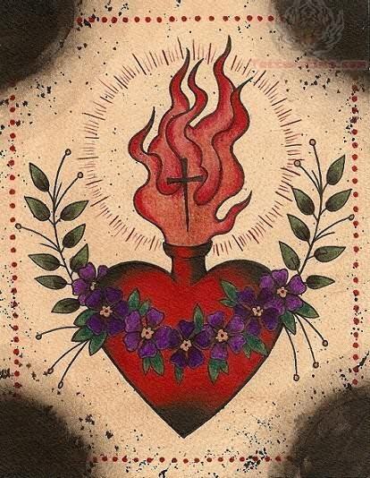 Tumblr Sacred Heart Tattoo Designjpg
