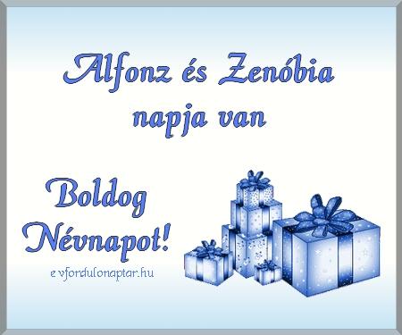 Október 30 - Alfonz, Zenóbia névnap
