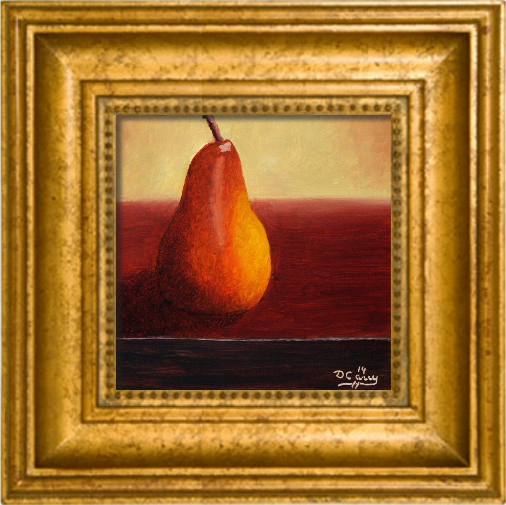 141205 - Kitchen Painting - Pear 002a 6x6 oil on gessobord - Dave Casey - TheDailyPainter.jpg