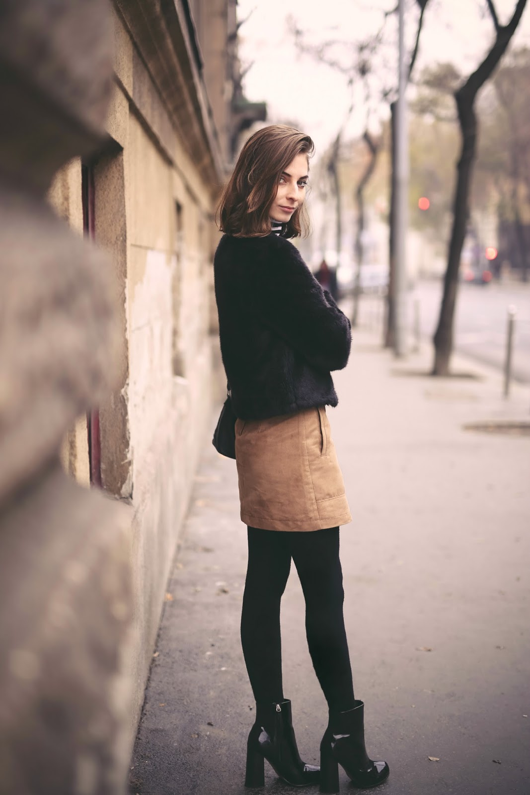WEARING A BROWN A-LINE SKIRT & WITH A STRIPED TOP | What Vero Wears