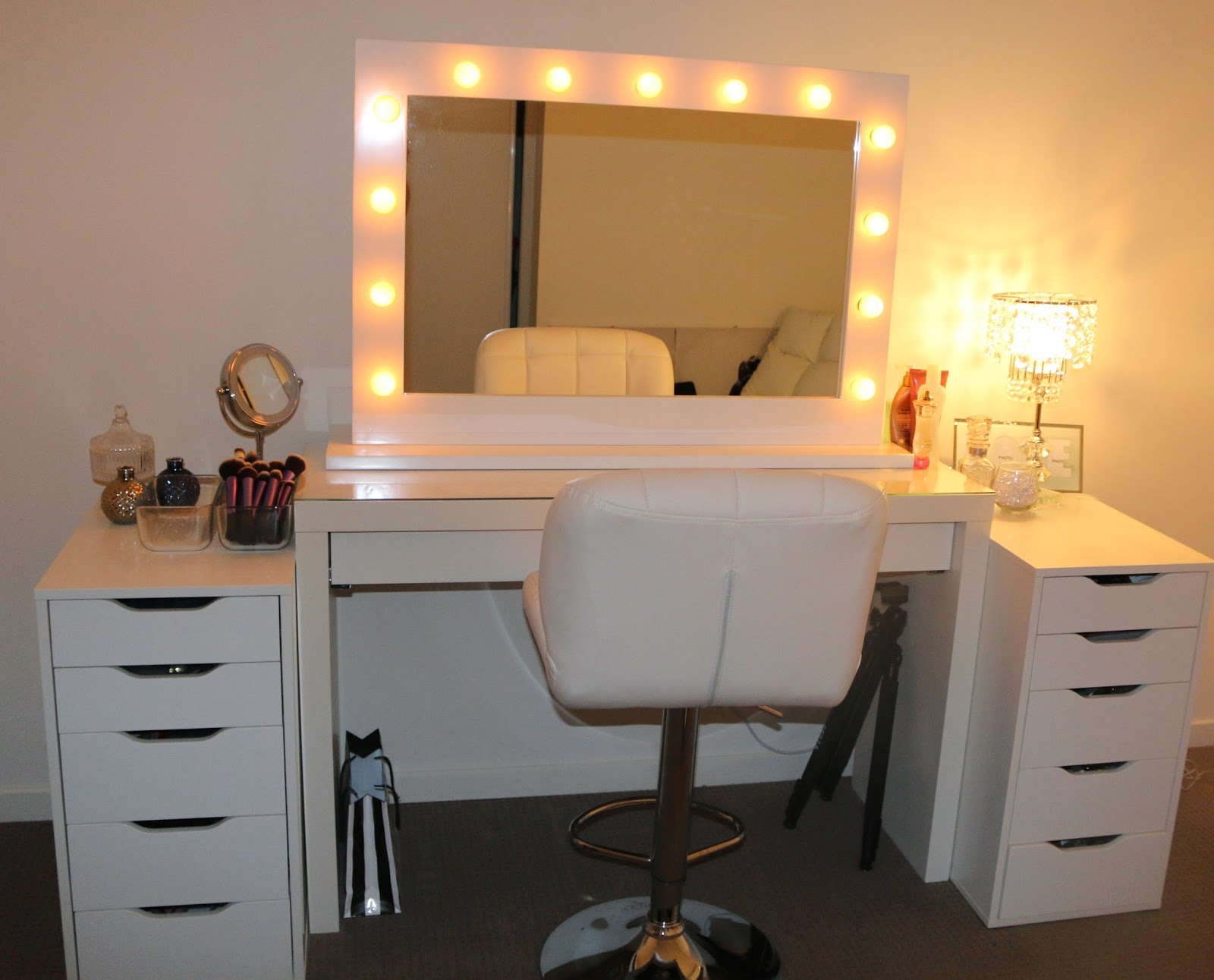 ROGUE Hair Extensions IKEA MAKEUP VANITY Amp HOLLYWOOD LIGHTS Makeup vanity  ikea  Furniture Good Looking. Dressing Table Lights Ikea