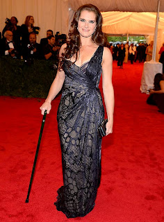 Brooke Shields And Walking Cane At Met Gala