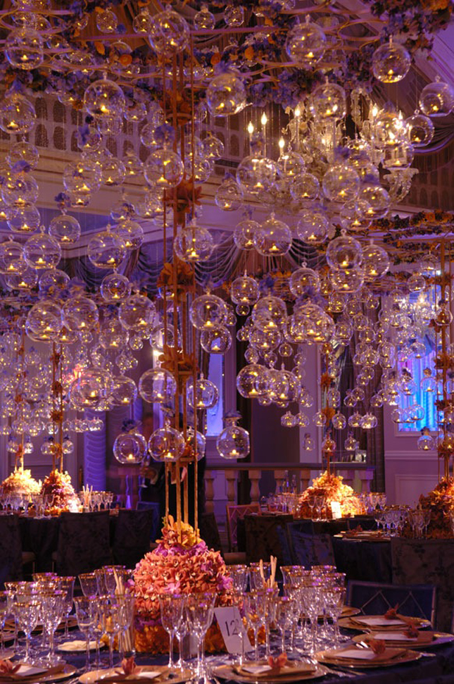 Wedding trends hanging wedding decor part 2 belle for Decor hanging from ceiling