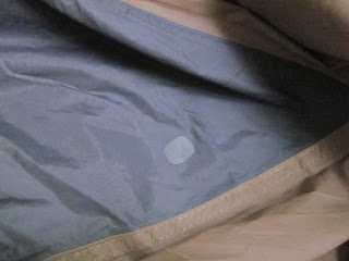 Tent Flysheet Repaired with Tenacious Tape