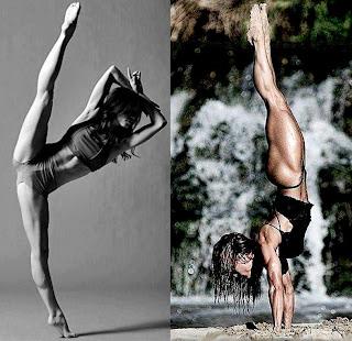 Ballerina calf muscle