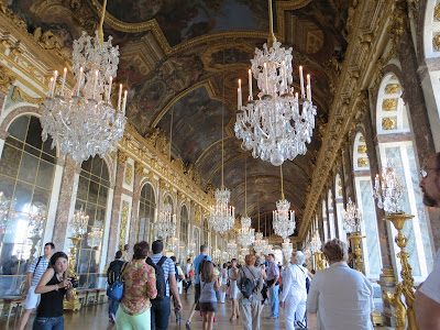 The Hall of Mirrors inside Le Chateau de Versailles, french for The Palace of Versailles, just outside Paris, France www.thebrighterwriter.blogspot.com