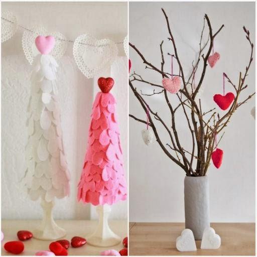 walentynki, dekoracje walentynkowe, serce, serduszka, drzewko walentynkowe