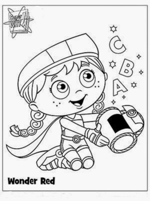 Interesting Collection Of Super Why Coloring Pages New Coloring Princess Presto Coloring Pages Free Coloring Sheets