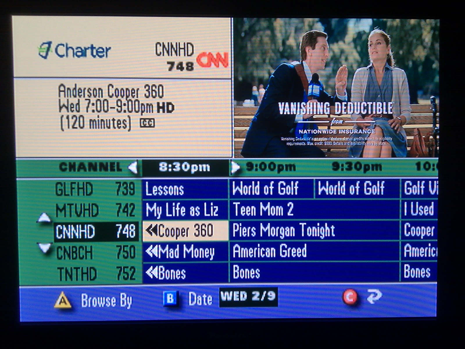 Time of the Tech: Outdated! Charter Cable Box UI