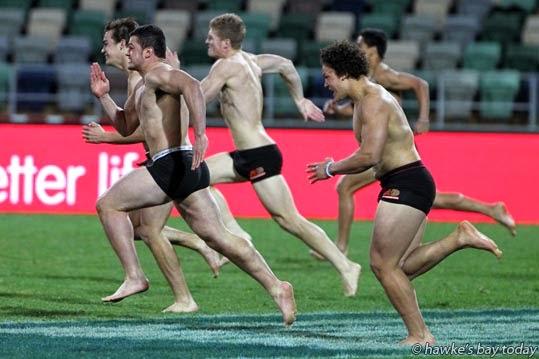 Half-time entertainment - Hawke's Bay Magpies, rugby vs Taranaki at McLean Park, Napier. Magpies won 29-26 photograph