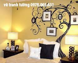 vẽ tranh tường phòng khách,phòng ngủ đẹp