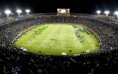 Autenticos tigres vs pumas cu trasmision apuntes de futbol for Puerta 9 estadio universitario