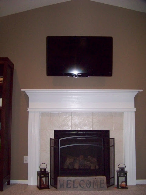 white fireplace, painted fireplace, painting oak