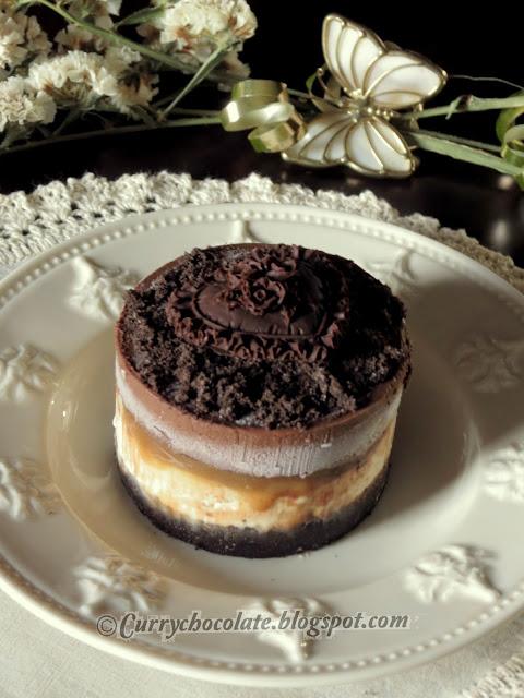 Tarta helada de chocolate, toffee y nata