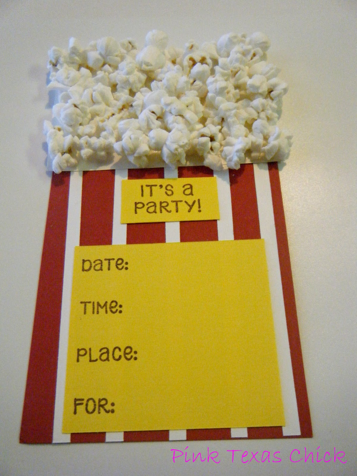 Popcorn theme party invitations and filmwisefo