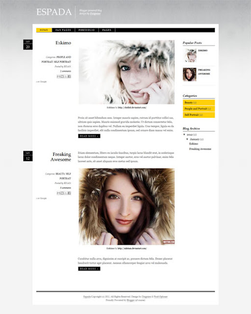 Blogger Template espada Free Download