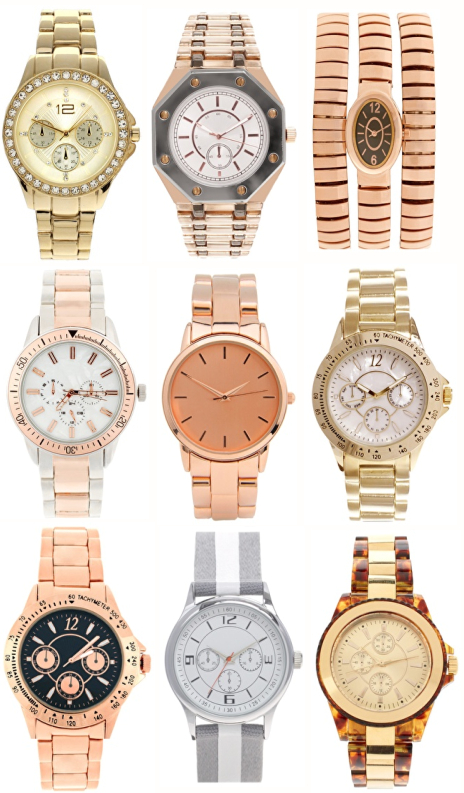 gold in watch product accessories bebe lyst boyfriend watches gallery metallic large