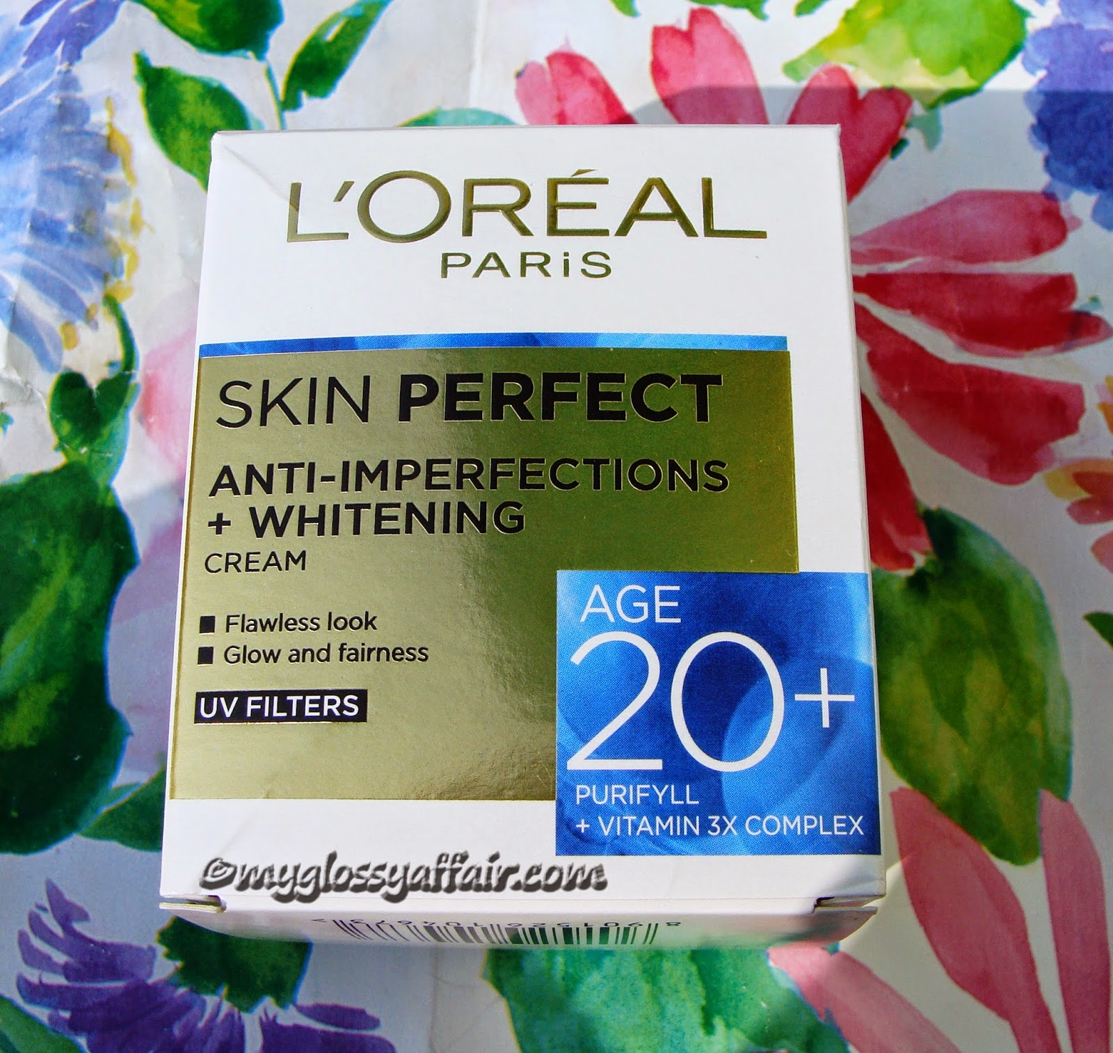 L'oreal Paris Skin Perfect Anti- Imperfections + Whitening Cream 20+ Review