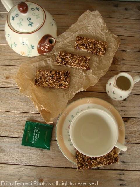 Ricetta barrette con cereali e semi