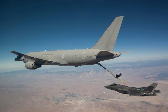 Italian KC-767A refuels F-35A Lightning II