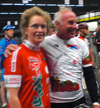 Met Joop Zoetemelk tijdens Th Ride for the roses 2011.
