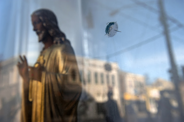 Bullet Hole, Jesus, Church, Storefront, Northside, Cincinnati
