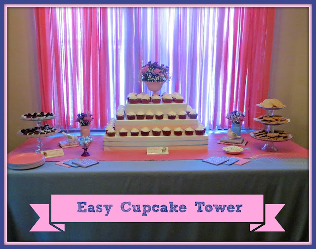 Easy Cupcake Tower by Crafty In Crosby