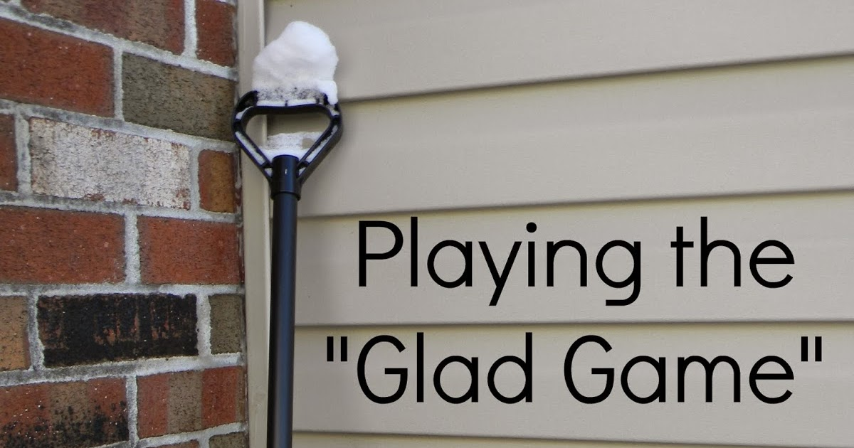pinspired home the glad game