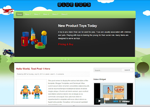 Blue Toys Blogger Theme