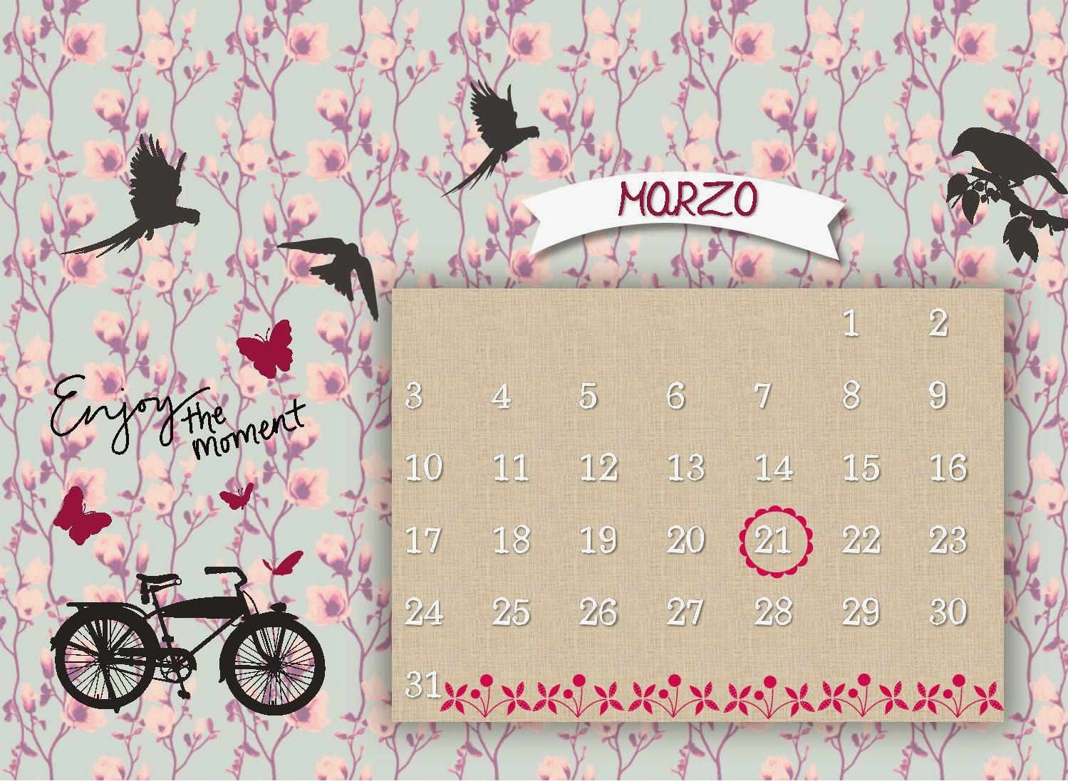 calendario Marzo ocho
