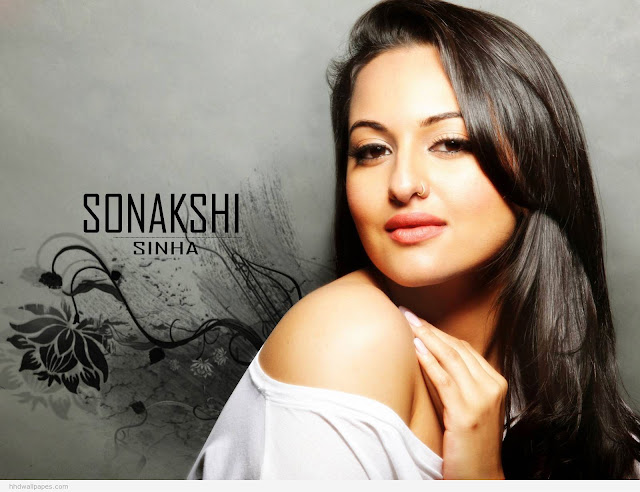 Indian Celebrities Sonakshi Sinha Hot HD Wallpaper 1024x768