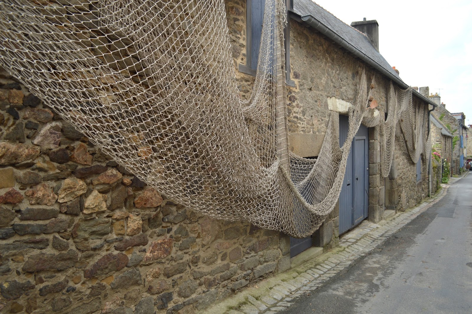 Fishman houses in Saint Suliac Brittany
