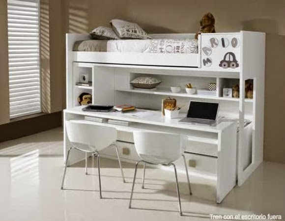 literas con escritorio debajo