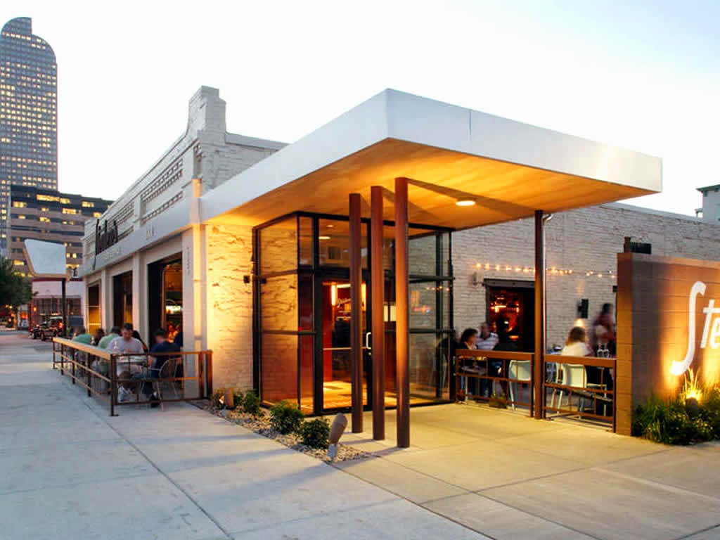 Selection of colors and shapes exterior restaurant famous for Exterior restaurant design