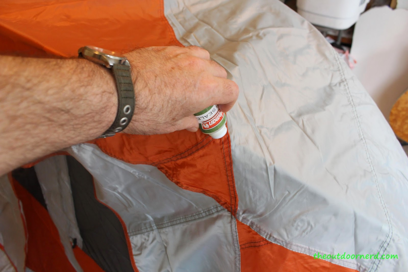 Seam Sealing Ozark Trail Backpacker's Tent