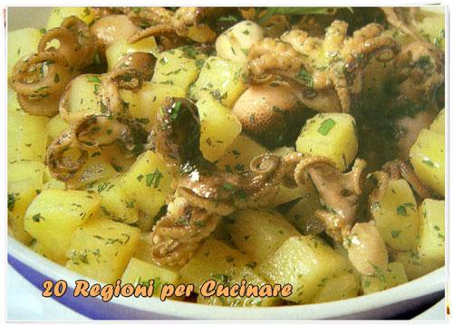 20 regioni per cucinare moscardini con patate for Cucinare per 20 persone