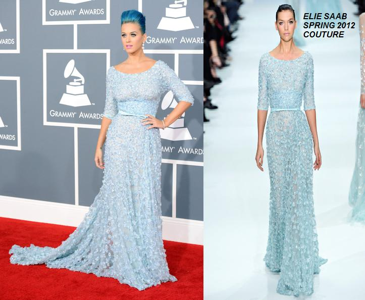 Katy Perry in Elie Saab Spring 2012 Couture