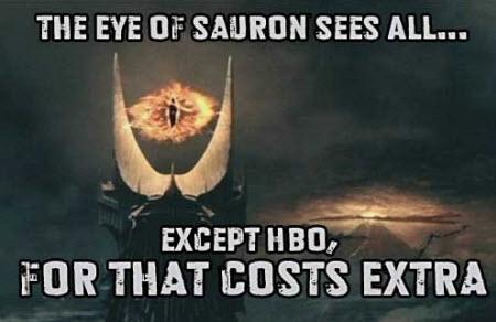 Sauron lo ve todo. Excepto...