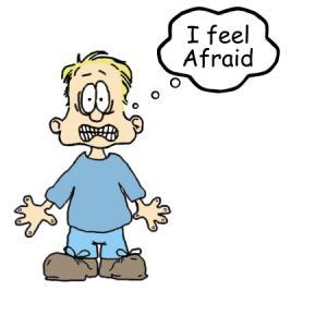 cartoon man person afraid fear