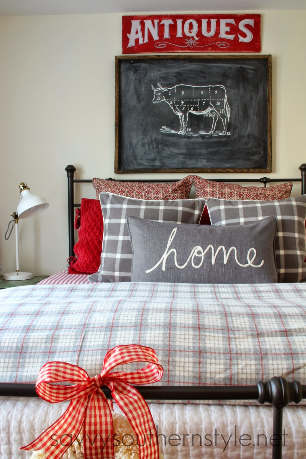 Savvy Southern Style Farmhouse Guest Room Christmas