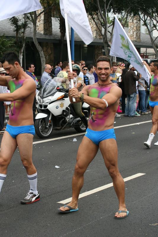 WEHO Pride Parade Abbey guy