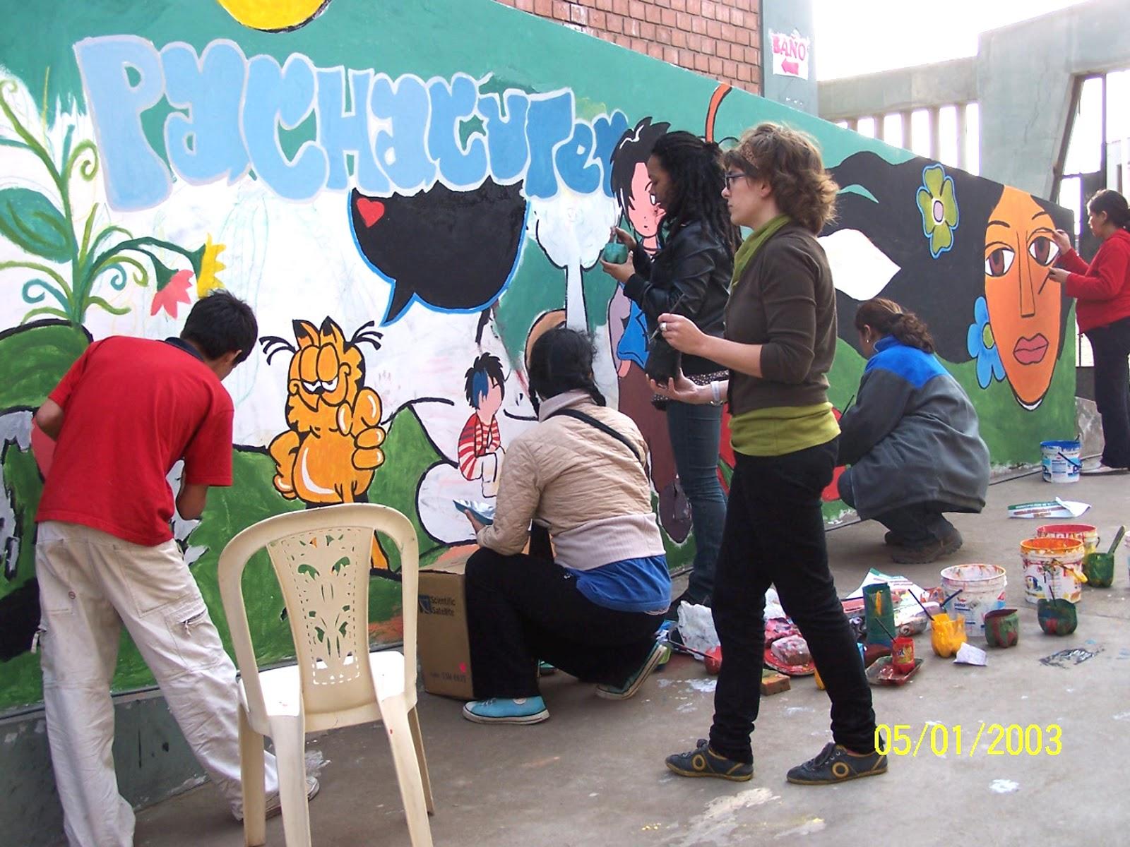 Proyecto mural comunitario taller de mural comunitario en for Proyecto social comedor comunitario