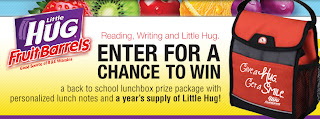 Little Hug Fruit Barrels Back to School Sweepstakes