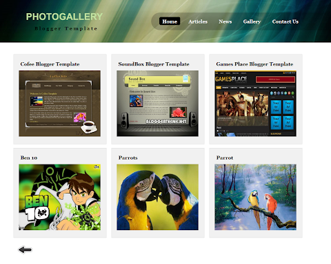 Photo Gallery Blogger Theme