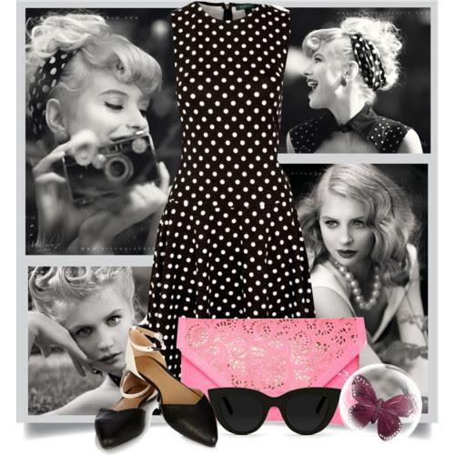 Vintage polka dot dress by Ralph Lauren. Visit www.forarealwoman.com