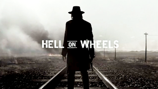 Hell on Wheels Cowboy on Railroad HD Wallpaper