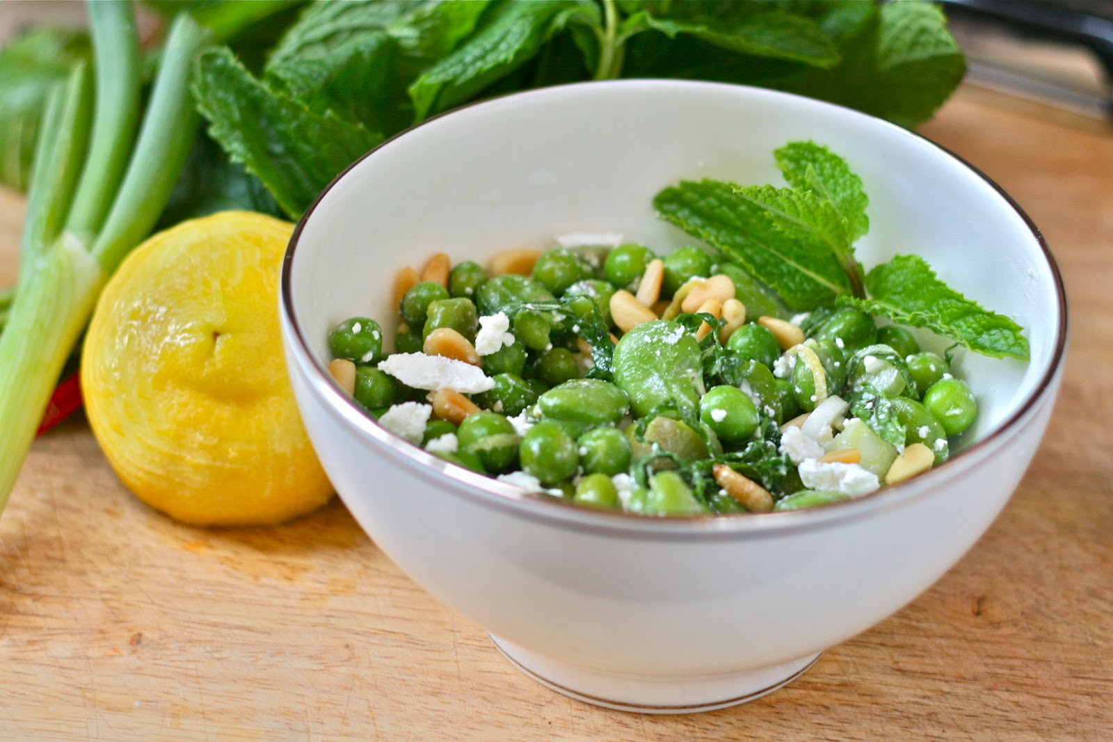 is for: Mint, English Pea & Fava Bean Salad